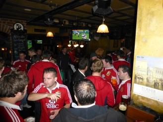 Lions fans inside King O'Mallys