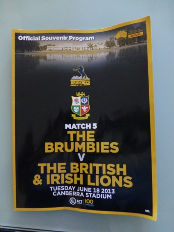 My offical match day programme