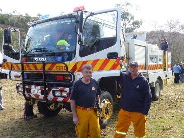 A couple of members of the Rural Fire Service.