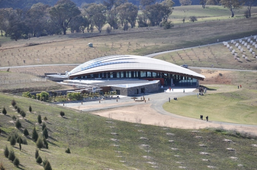 The visitors centre at the National Arboretum.