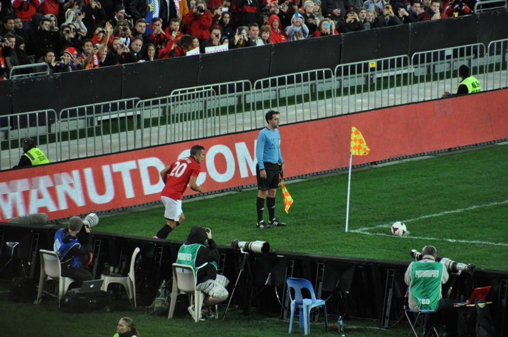 RVP takes a corner at our end.