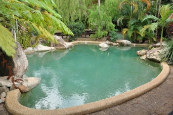 One of the pools at Ferntree Rainforest Lodge