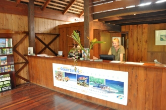 The reception at Ferntree Rainforest Lodge