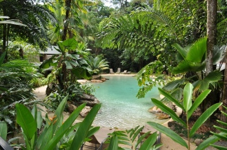 The second pool at Ferntree Rainforest Lodge