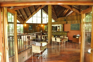 A look inside the Cassowary Café at Ferntree Lodge