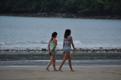 Walking along the beach at Cape Tribulation