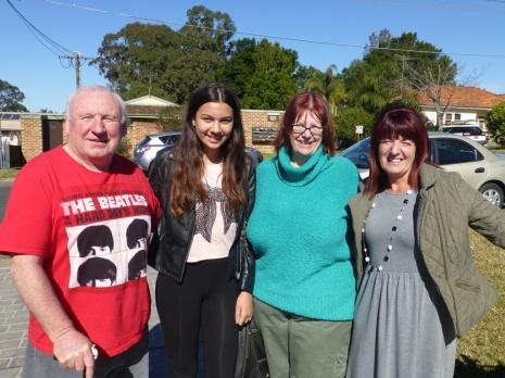 Lawrence, Ciara, Barbara & Gail