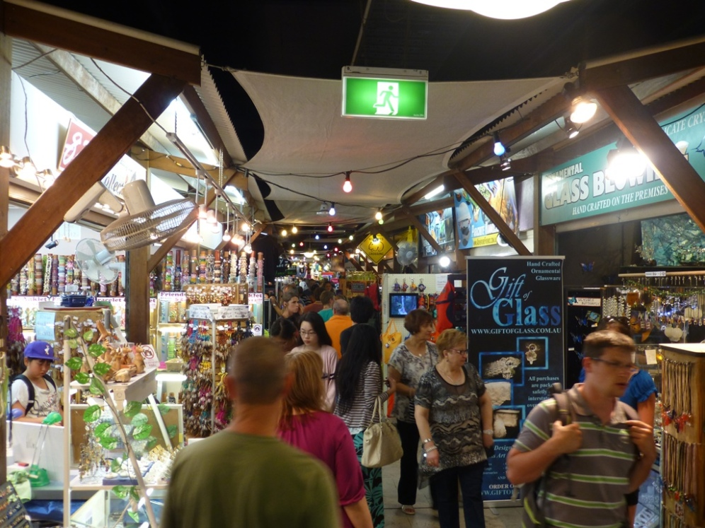 Cairns night market in full flow.