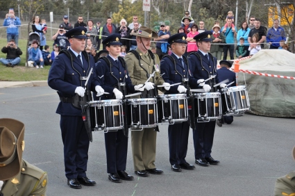 Drummers of the ADF Drill Team