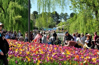 Big crowds at Floriade.