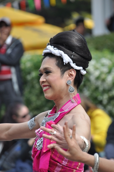 Close-up of one of the Thai dancers