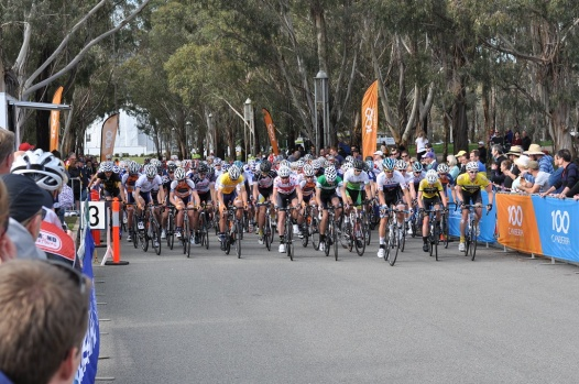 The start of the men's Criterion Race