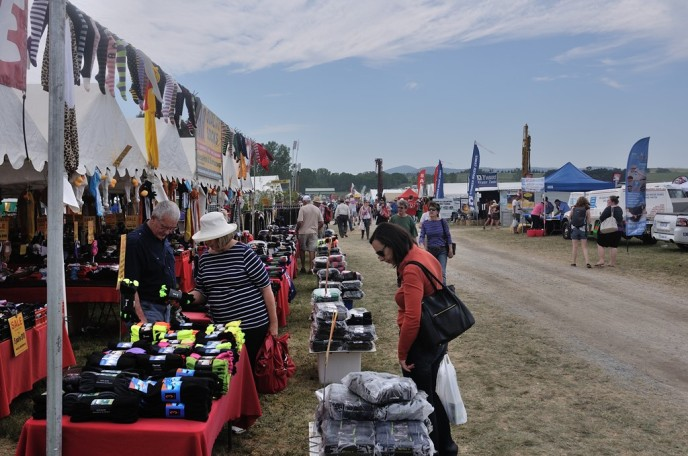 Plenty of stalls to at the fair.
