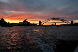 Heading out into Sydney Harbour