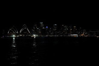 Coming back into port past the Opera House and CBD.