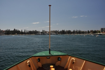 Approaching Manly Wharf