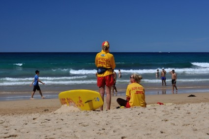 A couple of Surf Life Savers on watch