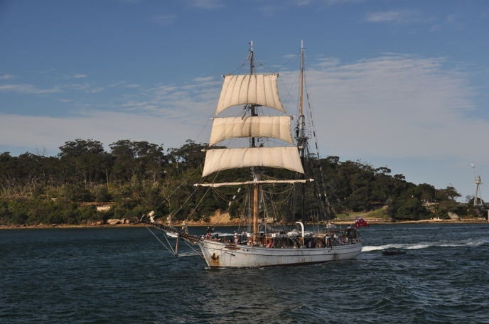 Tall ship on the water