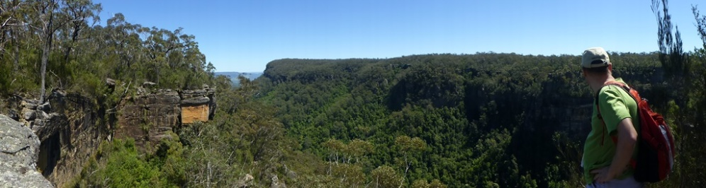 Panorama from the lookout point.