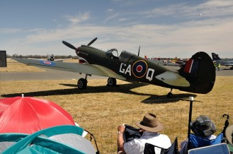 One of the Spitfire's waiting for its display