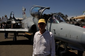 Glenn in front of the F18 Hornet