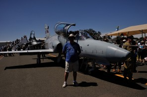 Me in front of the F18 Hornet