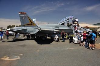 F18 Hornet on show ...
