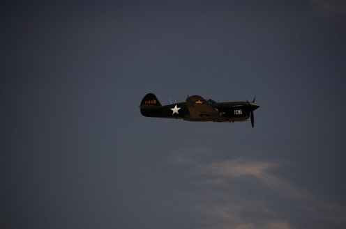 A P-40F Warhawk
