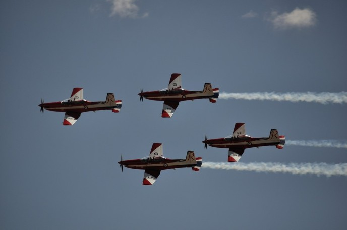 The RAAF Roulettes in formation