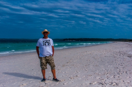 Yours truly on Hyams Beach, NSW