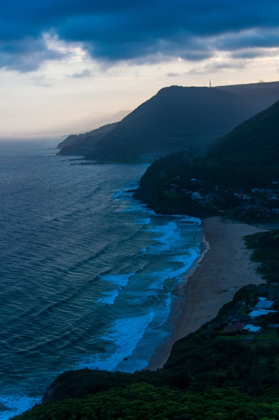 An evening shot of Stanwell beach