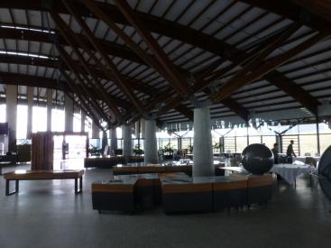 Inside the café at the Arboretum