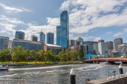 Downtown Melbourne from the South Bank.