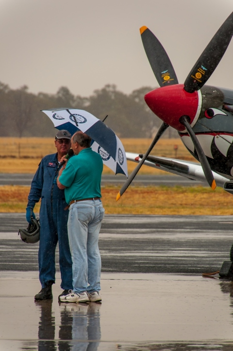 The Pilot, Steve Death being interviewed