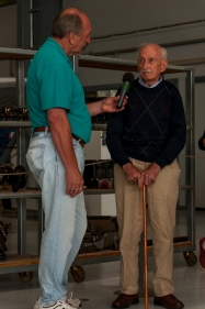 Mr Murray Adams, 94, a former Spitfire pilot was there for the day and was interviewed