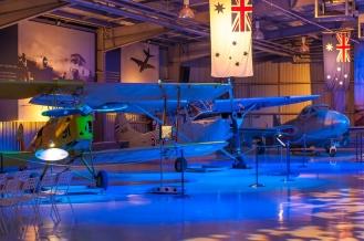General shot inside the Aviation Museum