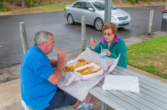 The best fish n chips eaten on the beach.