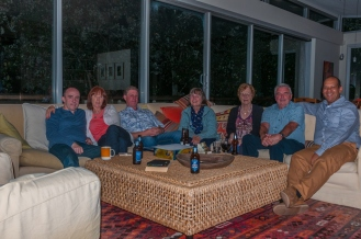 Group shot of us relaxing after dinner.