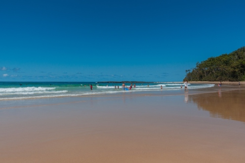 The beach at Mollymook