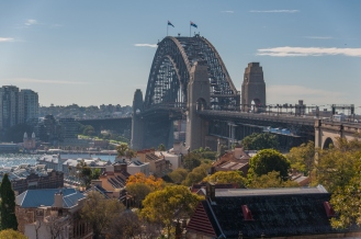 Looking at the bridge from Sydney Observatory