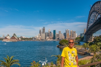 Me spoiling the view at Milsons Point