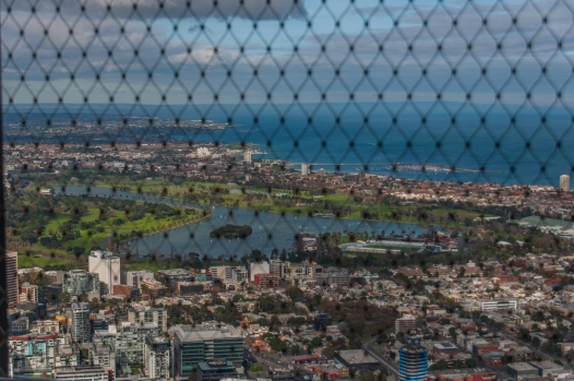 Albert Park and St Kilda in the distance