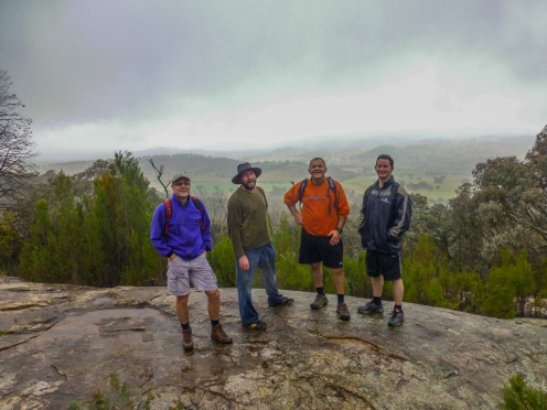Enjoying the view at Cypress Pines Lookout...