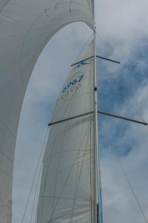 Fore-sail and main-sail