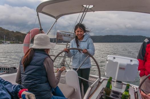 Beam steering the boat