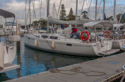 'Out of Sight' at the mooring