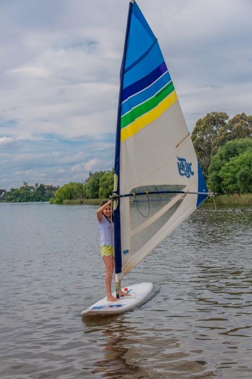 Ya on the windsurfer