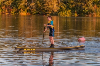 Dylan shows no fear on the SUP