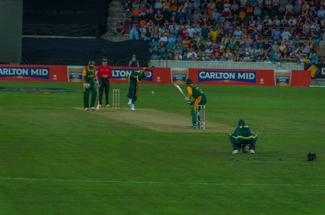 Australia bowling at SA