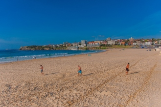 An empty Bondi Beach